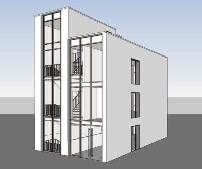 Digitalisierung eines 3D Modell in REVIT als Genehmigungsplan