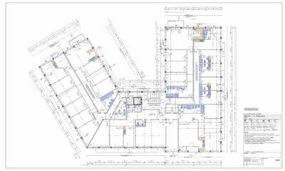 Bestehenden Papierplan nach AutoCAD digitalisieren. Hier ein Beispiel im Maßstab 1:50, Ausgangslage waren alte Papierpläne die digitalisiert wurden.