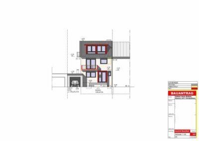 Bei dieser Bauplan digitalisierung wurden die handschriftlichen Skizzen nach Angaben des für den Umbau verantwortlichen Architekten in CAD gezeichnet. Die Kosten für alle sechs Pläne lag bei ca. 820,-€